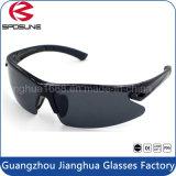 Pesca negra de la lente del LED de la seguridad de los vidrios protectores ULTRAVIOLETA con estilo de las lentes que completa un ciclo conduciendo las gafas de sol del montar a caballo del voleibol