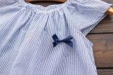 Enfants de mode d'été vêtant la robe de coton de jupe de filles