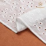 Tela 100% de venda quente do laço do vestido de casamento do algodão H10001