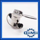 Válvula aséptica sanitaria de la muestra del ANSI Ss316L con el oído doble