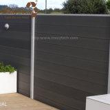 Fácil à cerca composta ao ar livre do alumínio WPC da instalação para o jardim