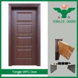 Porte intérieure imperméable à l'eau respectueuse de l'environnement de WPC pour la salle de bains