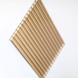 Strato glassato del tetto della cavità del policarbonato della Gemellare-Parete con protezione UV