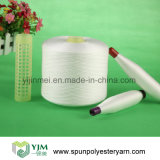 hilo de coser del poliester blanco sin procesar 30s/4