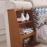 韓国様式の居間の家具- Fb8043bのための現代本革のソファーベッド