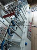 Linha moldando interna máquina da laminação do perfil do PVC de envolvimento decorativa do Woodworking
