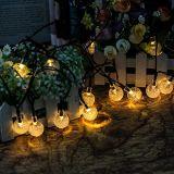 Zeichenkette-Lichter der Feiertags-dekorative bereiften Birnen-LED für Speicher oder Garten