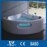 bañera del Jacuzzi de la esquina redonda del 158X158cm