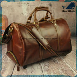 Bw255 Moda Rolling equipaje para hombres Big Leather Travel Bags