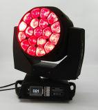 Luz principal móvil de la viga de la pista 19X15W de la iluminación RGBW LED de la etapa del ojo grande móvil de la abeja