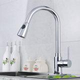 Retirer le taraud de mélangeur de bassin de cuisine d'émerillon d'argent de chrome de robinet