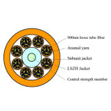 Cavo ottico allentato della fibra del tubo LSZH 96 di memorie di FTTH della struttura dell'interno di distribuzione