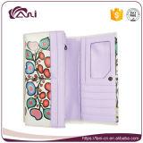 Diseño floral de la carpeta de las mujeres de cuero baratas al por mayor de la PU del precio