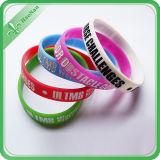 Bracelet fait sur commande de silicones de bracelet promotionnel à la mode de décoration