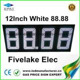 12inch de Vertoning van het Teken van de Wisselaar van de LEIDENE Prijs van het Gas (NL-TT30F-3R-DM-4D-Wit)