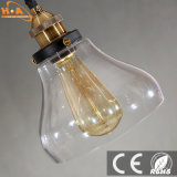 Luz material de vidro do pendente da luz quente do candelabro das vendas