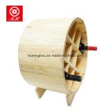 Estante de madera del vino de la botella de la dimensión de una variable 9 del barco para los muebles caseros