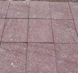 Roter Porphyr Cubestone, Kopfstein, Granit stolperte Kopfstein-Stein
