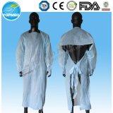 Elementaroperation steriles Wegwerf-CPE-Kleid/blaues CPE-Kleid/billig medizinische Wegwerfkleider