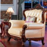 جلد أريكة مع خشبيّة طاولة خزانة لأنّ يعيش غرفة أثاث لازم