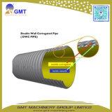Maquinaria ondulada da extrusora da tubulação da parede dobro do plástico HDPE/PVC