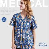 L'hôpital d'OEM 100%Cotton frotte pour les femmes/uniforme médical d'hommes