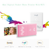 Impresora de bolsillo con el teléfono inalámbrico Wi-Fi portátil Photo Printer Impresora mini foto para iOS y Android Smartphone para mejores regalos de Navidad