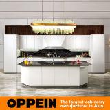 Armadio da cucina di legno dell'alta lacca bianca moderna di lucentezza HPL di Oppein (OP16-117)
