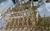 De kledende Pop Plank van de Vertoning van het Rek van de Vertoning van de Schoenen van Eletroplating van het Roestvrij staal van het Metaal Gouden