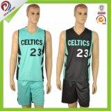 Diseño determinado de la insignia del poliester de las personas del uniforme libre del baloncesto