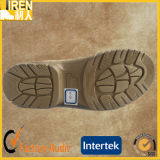 スエード牛革最上質メンズ安全靴のベージュ軍の砂漠ブート