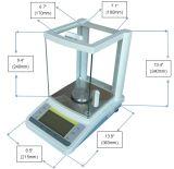 het Analytische Saldo van de Hoge Precisie 0.1mg 0.0001g met het Schild van de Wind van het Glas