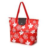 Custiomizedのロゴ(YY210SB041)の女性のためのポリエステルハンドルのショッピング・バッグ