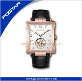 Selbstmechaniker-Quadrat-Uhrmens-Oberseite-Kleie-Chronograph-Silber-Uhr