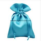 Sacos pequenos feitos sob encomenda do malote do cetim do Drawstring do favor do presente de casamento