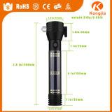 Lanterna elétrica Multi-Functional do diodo emissor de luz, lanterna elétrica da potência solar & da lanterna elétrica recarregável do USB farol/luz de advertência clara da parte positiva