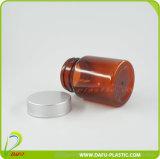 botella plástica de la medicina de 60ml Brown con el casquillo de oro