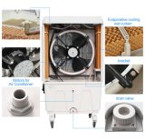 Dispositivo di raffreddamento di aria evaporativo portatile dell'ente di plastica con il ventilatore utilizzato in ufficio e nella casa