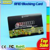 프로텍터 카드를 막는 신용 카드 반대로 스캐너 RFID