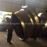 L'usure élevée de bâti de manganèse de concasseur de pierres partie le manteau concave
