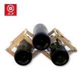 Porte-bouteilles avec la crémaillère en bois pliable de vin pour la cave d'établissement vinicole