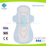 Serviette hygiénique remplaçable de femmes de vente chaude pendant le temps durant la nuit et lourd de flux