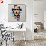 Popstar-Portrait-Wand-Kunst-Auszugs-modernes Gesichts-Ölgemälde