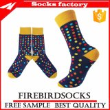 Kundenspezifische glückliche bunte Socken und Großverkauf-Kleid-Socken