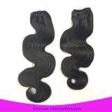 バージンのRemyの毛の織り方モンゴルボディ波の毛