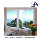 Ventana esmaltada doble de aluminio del marco/ventana de aluminio del marco