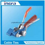 Serres-câble verrouillés d'acier inoxydable du noir O de tube de Bunble