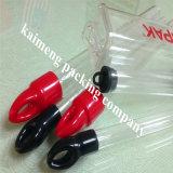 Pacote plástico personalizado das câmaras de ar do cilindro do animal de estimação desobstruído com tampão colorido