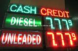 Muestra del precio de la gasolina de la pantalla de visualización de LED de la muestra de la tasación de la gasolinera del LED (doble-cara al aire libre 10 pulgadas de alto)