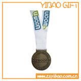 Medaglia d'argento su ordinazione di sport con il nastro di stampa (YB-MD-12)